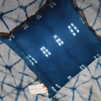 Cushions Glace Cotton Shibori Dye Geometry 16 Indigo