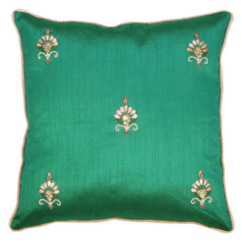 Cushions Khadi Silk Gotta patti Motif across 16 Blue