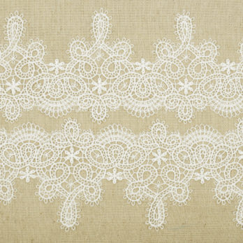 Cushions Linen Applique LaceScalloping 16 Beige
