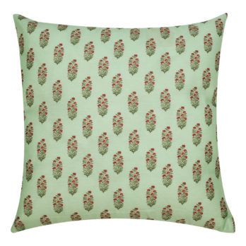 Cushions Poly Silk Printed Floral 16 Blue