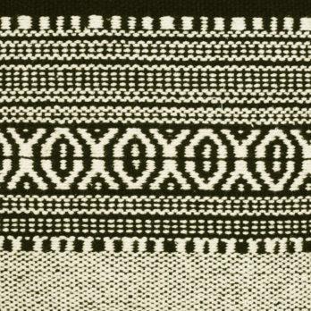 Cushions Rug fabric Rug style black white stripes 16 Black
