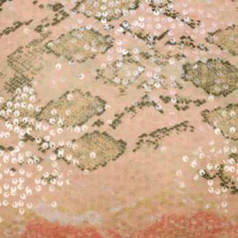 Cushions Synthetic Georgette Sequence Sequence 16 Peach