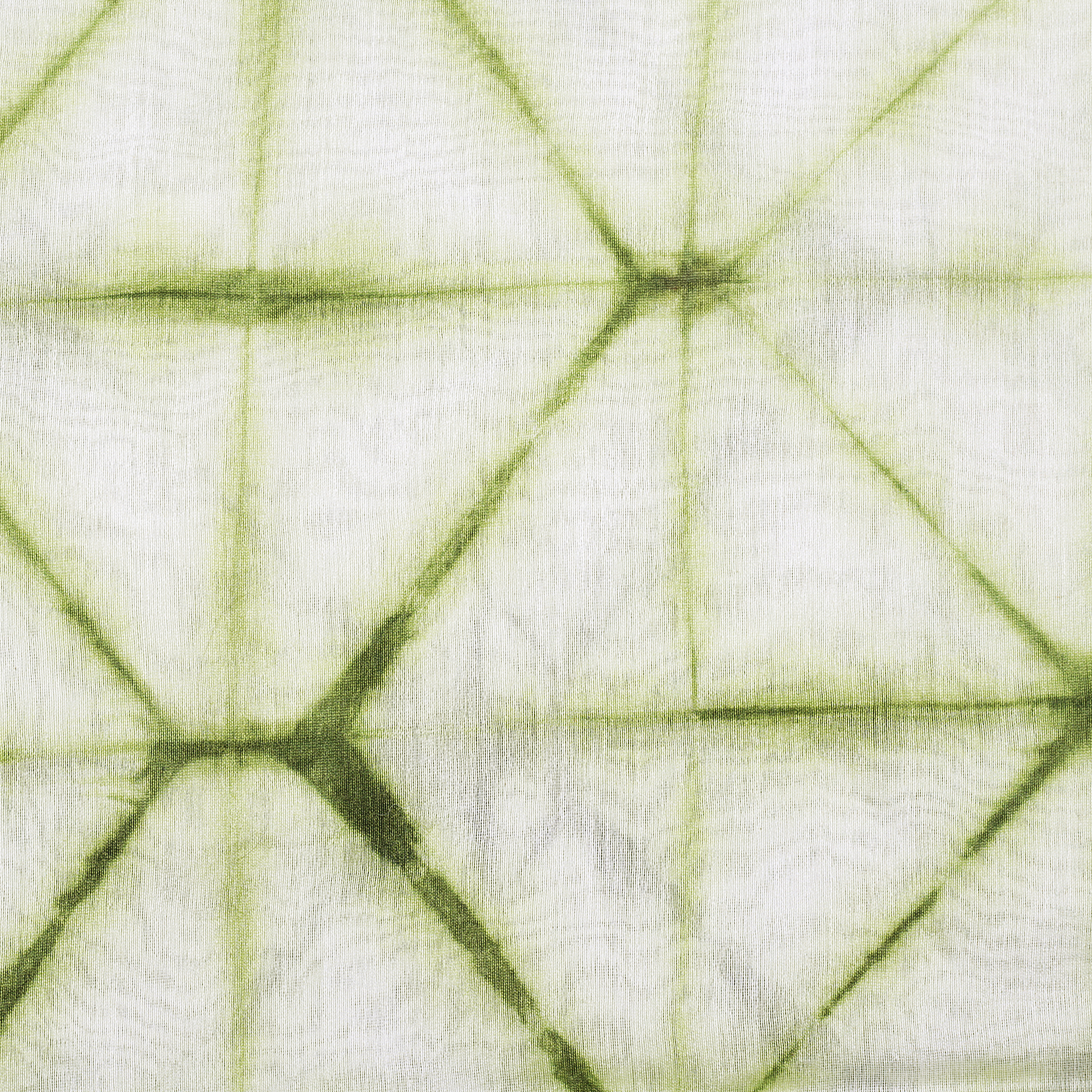 Curtains Chanderi Shibori Dye Geometry 9 Green - Rangsaga