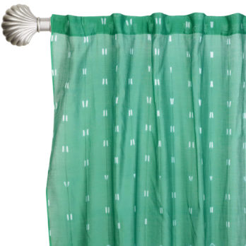 Curtains Chanderi Shibori Dye Geometry 9 Teal