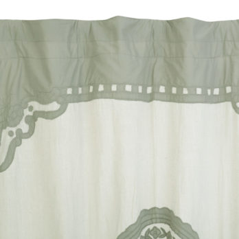 Curtains Linen Applique Oval Vintage 9 Grey
