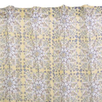 Curtains Malmal Jaipuri Block Print Mughal Mandala 9 Mustard
