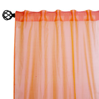 Curtains Chanderi Gotta patti Three Panel 9 Peach