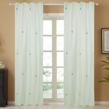 Curtains Chanderi Gotta patti 15 Motifs 9 Light Green