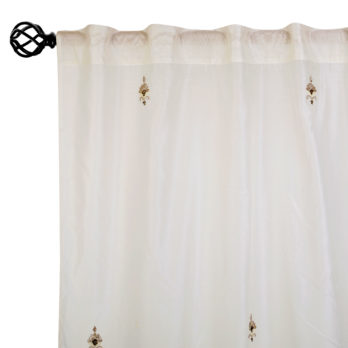 Curtains Chanderi Gotta patti 15 Motifs 9 Offwhite