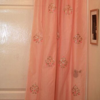 Curtains Chanderi Gotta patti 18 Motifs 8 Light Peach