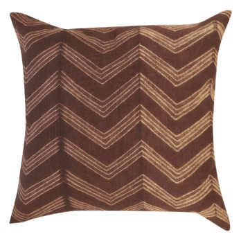 Cushions Cotton Shibori Dye Geometry 16 Brown