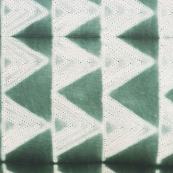 Cushions Cotton Shibori Dye Triangle 16 Green