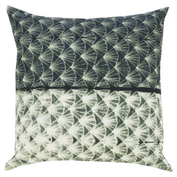 Cushions Cotton Shibori Dye Diamond 16 Green