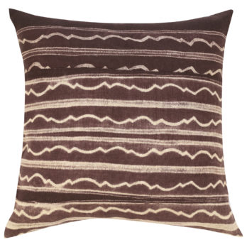 Cushions Cotton Shibori Dye Waterfall 16 Brown