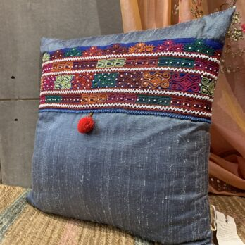 Cushions Khadi Silk Afghani Patchwork Big Patch 18 Multi
