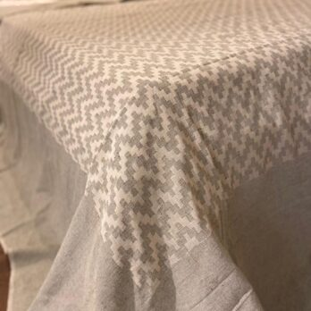 Bed Cover Handwoven Cotton Cutwork 108 inches by 108 inches