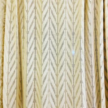 Curtains Cotton Jaamdani Handwoven Chevron Big Offwhite Beige 8 feet