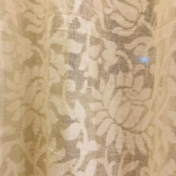 Curtains Cotton Handwoven Jamdani Lotus Garden Offwhite 8 feet