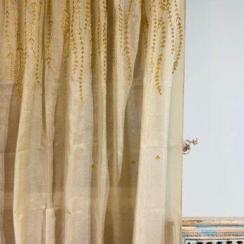 Curtains Banarasi Shimmer Chanderi Gotta Work Climbers 8 feet