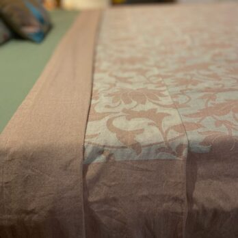 Bed Cover Handwoven Cotton Cutwork 94 by 104 inches