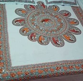Bed Sheet Cotton Madhubani Traditional Designs King Size – Made To Order